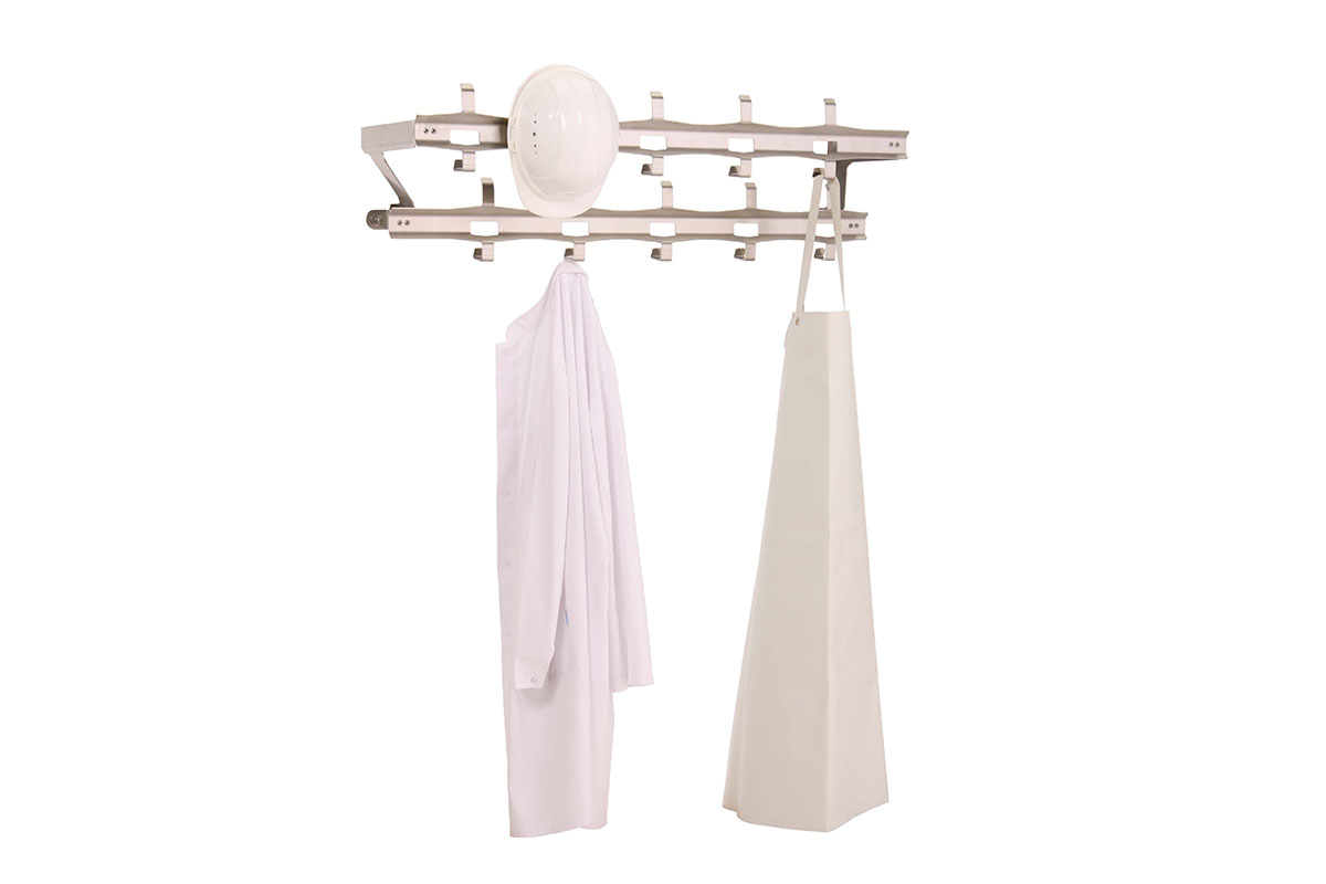 Storage Wardrobe for aprons and helmets