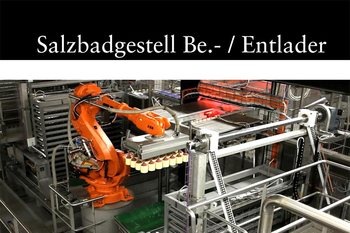 Materials handling technology Salt bath rack loader/unloader