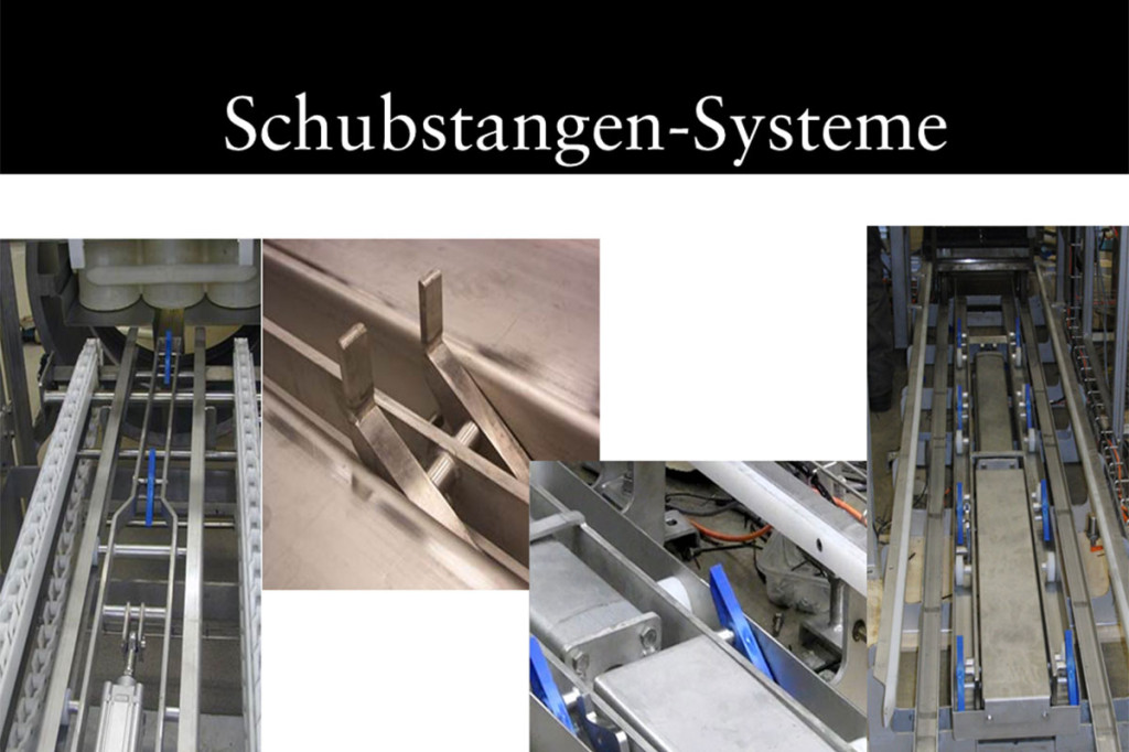 Materials handling technology Pushrod system