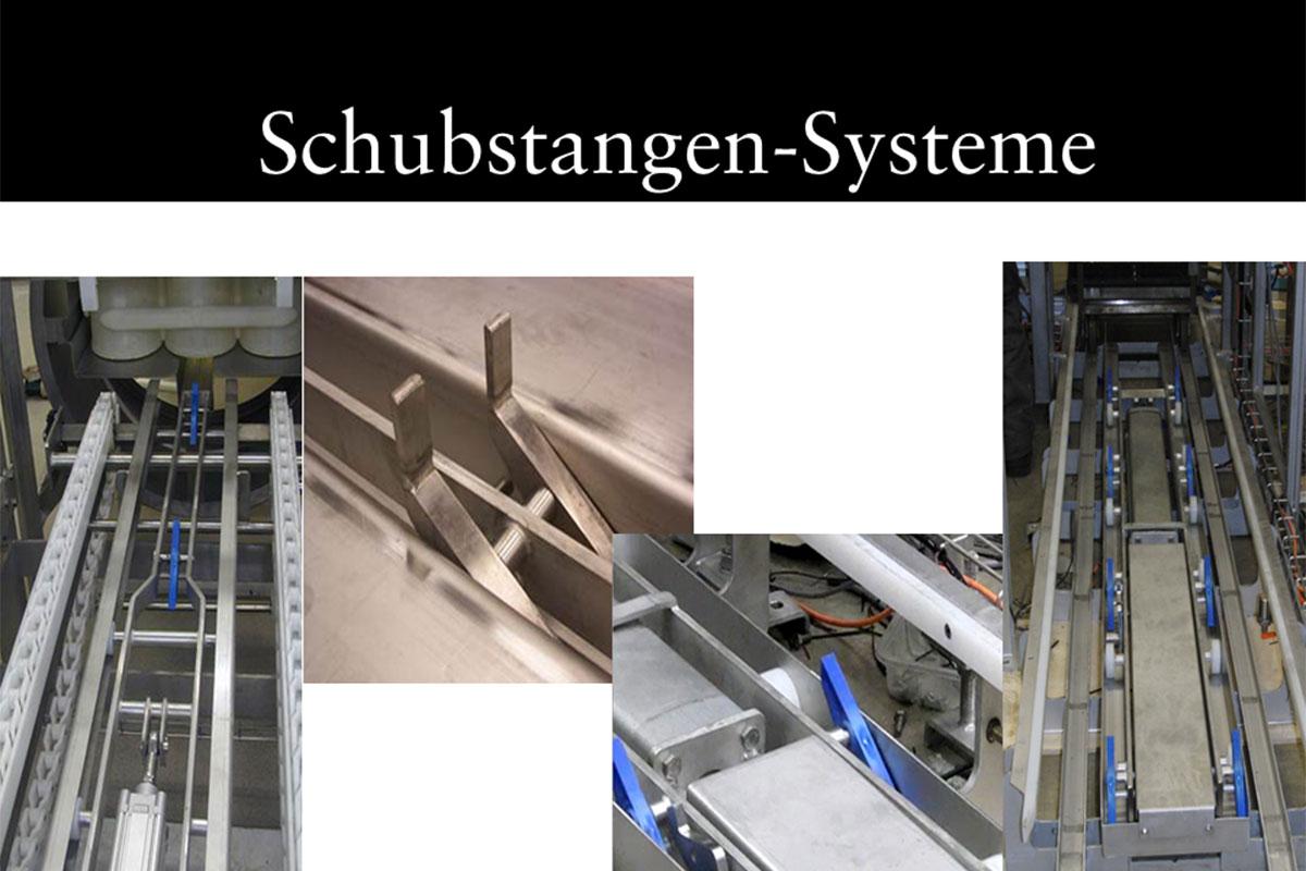 Materials handling technology Pushrod system