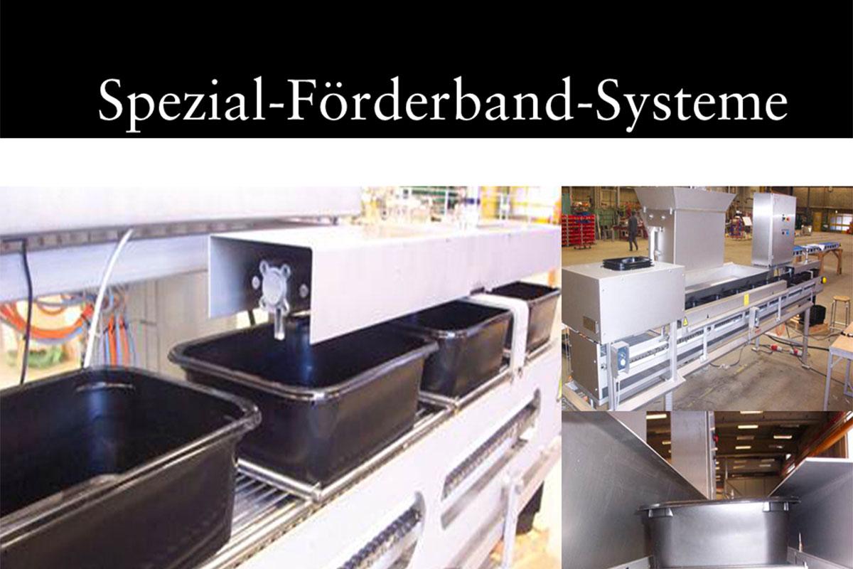 Materials handling technology Special conveyor belt system