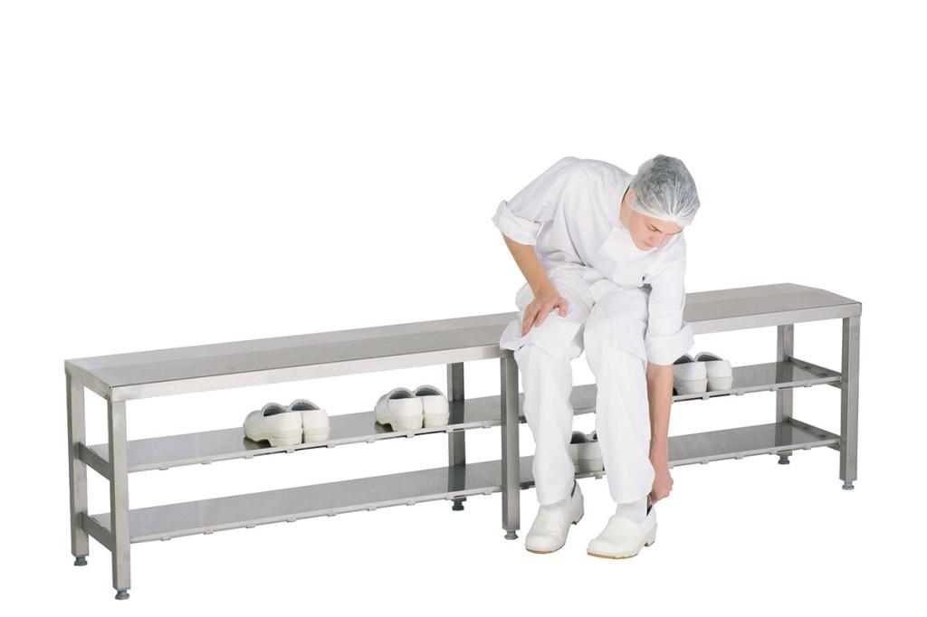 Wardrobe installation Step over bench