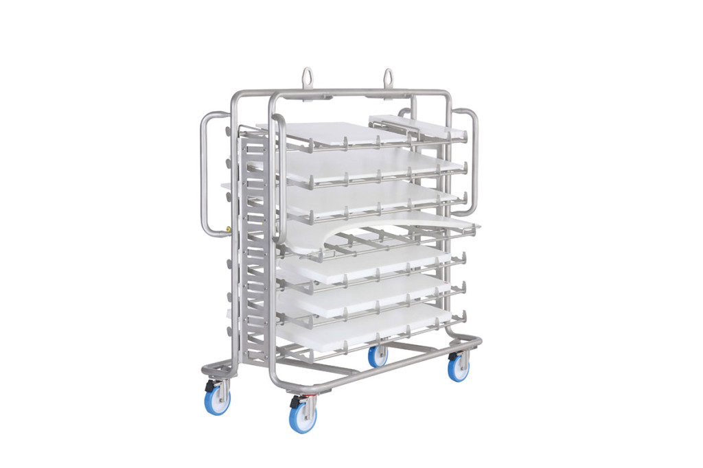 Trolley for cleaning machine 22580 with cutting boards
