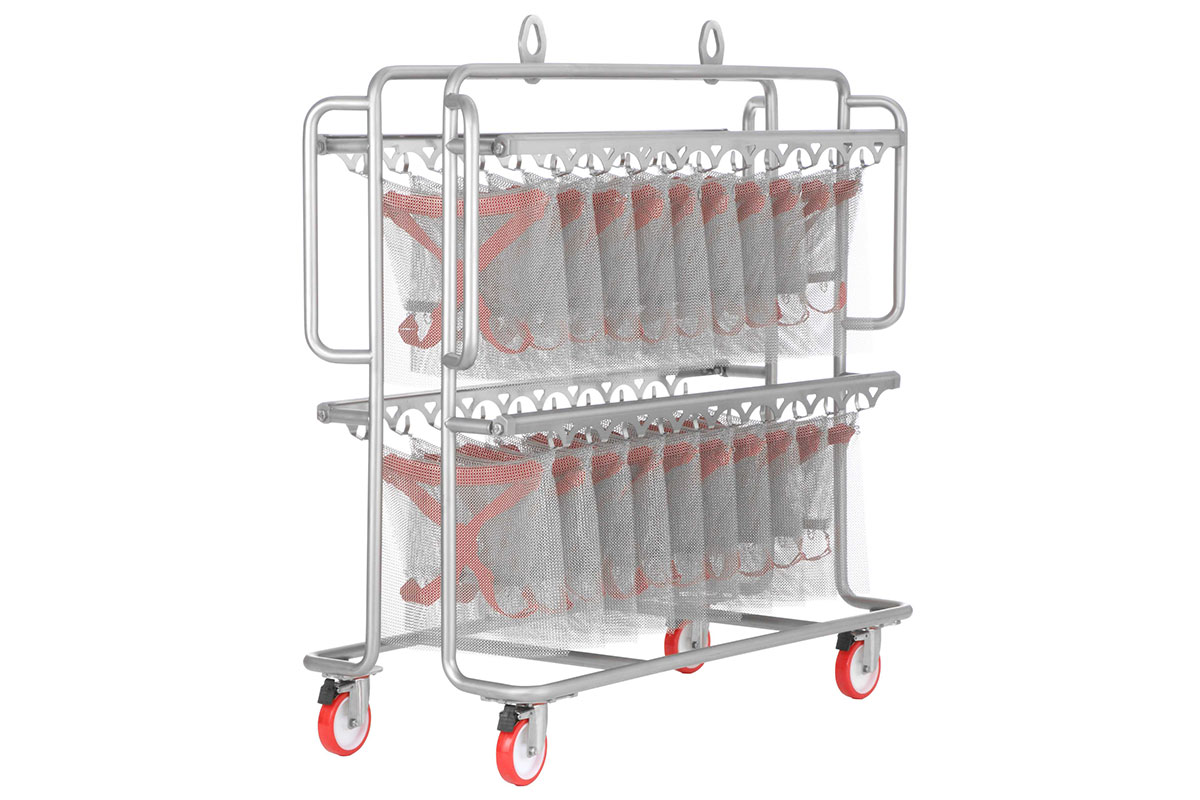 Trolley for cleaning machine 22580 with safety aprons