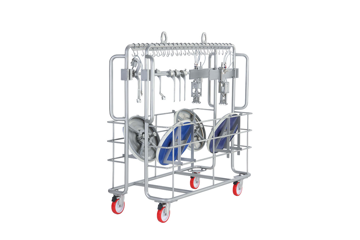 Trolley for cleaning machine 22580 with slicer tool