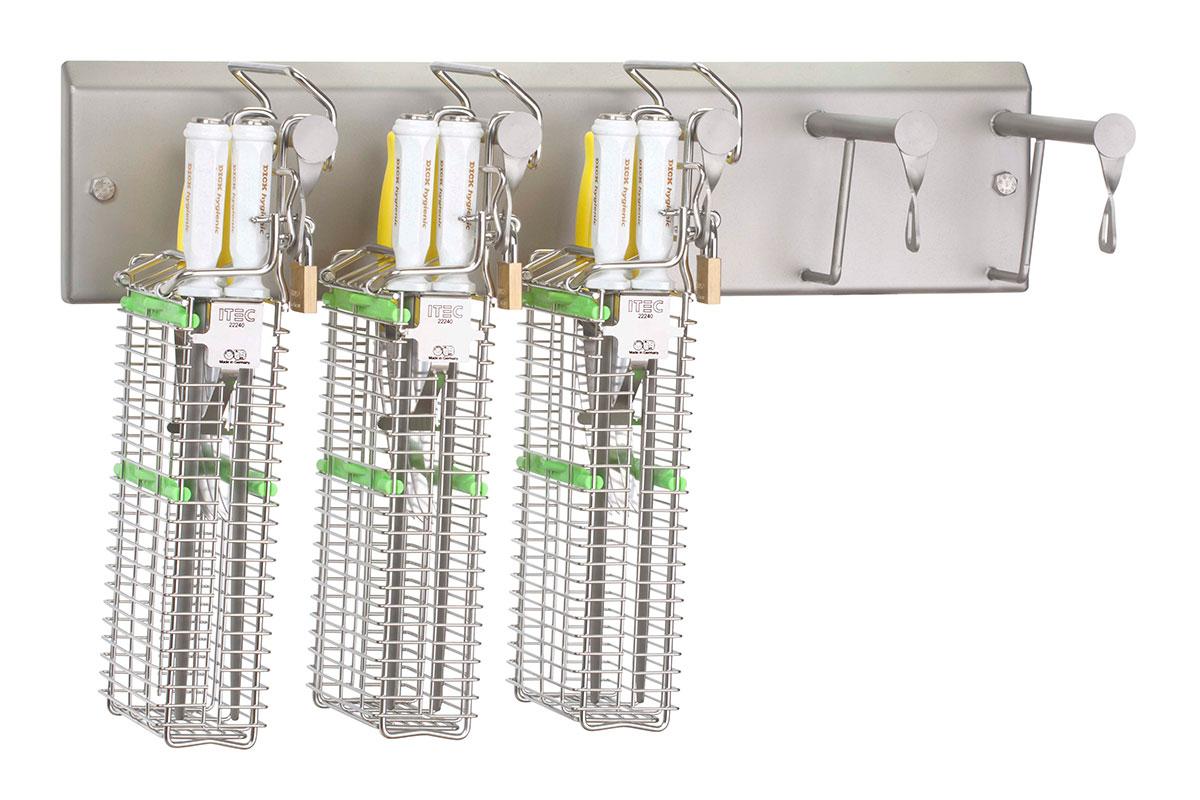 Knife holder system Lockable wall bracket