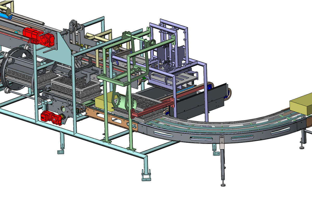 Semi-hard cheese production Demoulding device