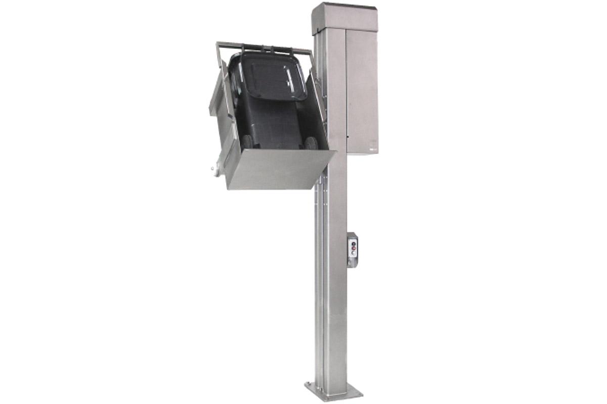 Hebekippvorrichtung für Mülltonnen 80 und 120 Liter