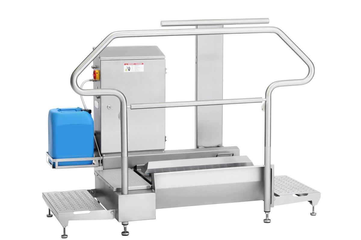 Hygienestation Typ 23876-800 with additional railings