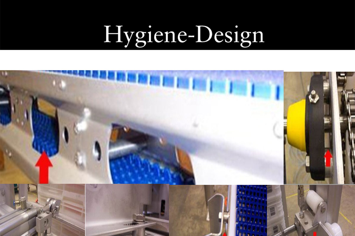 Example Chrome steel components Hygiene design