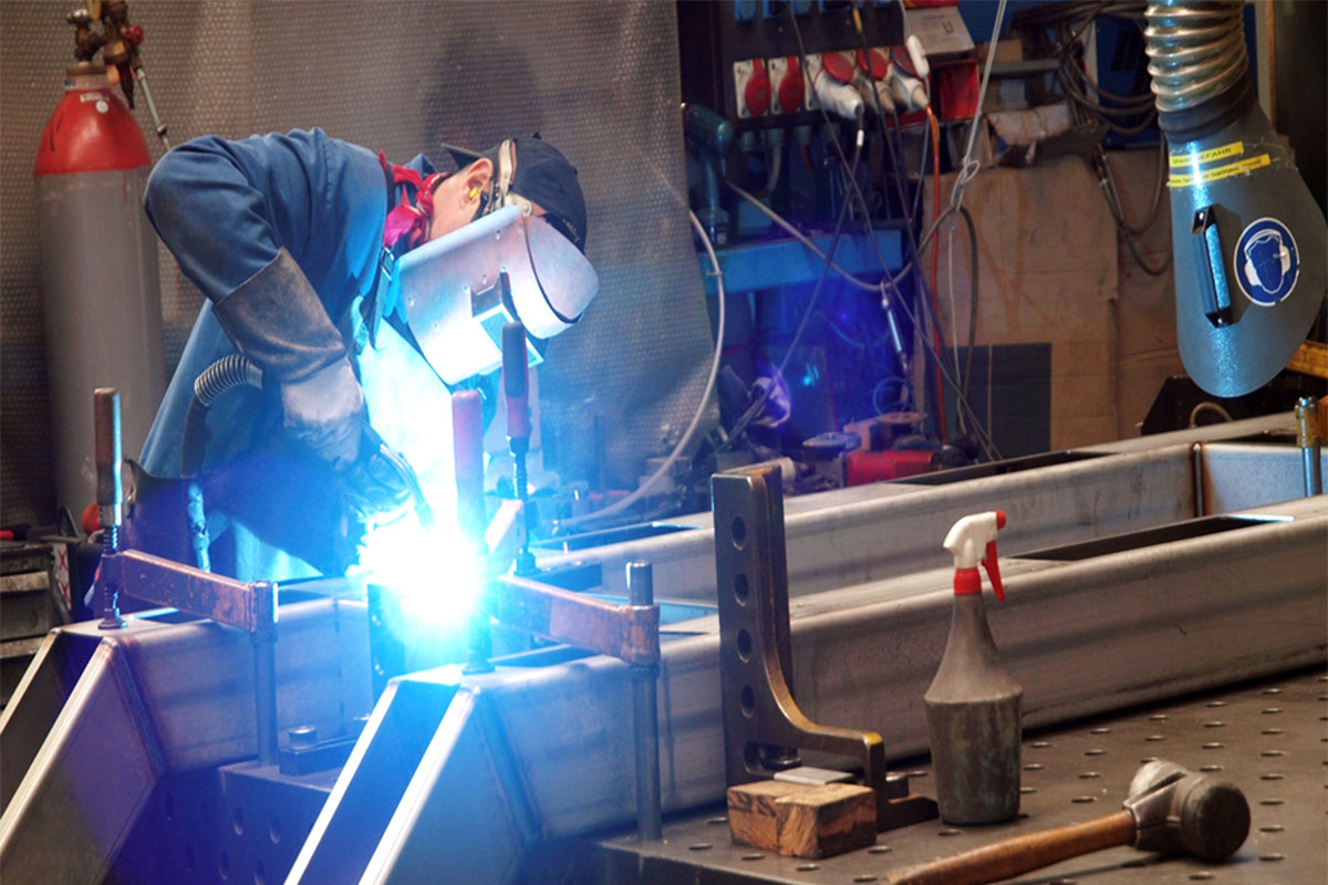 Example Chrome steel components Welding