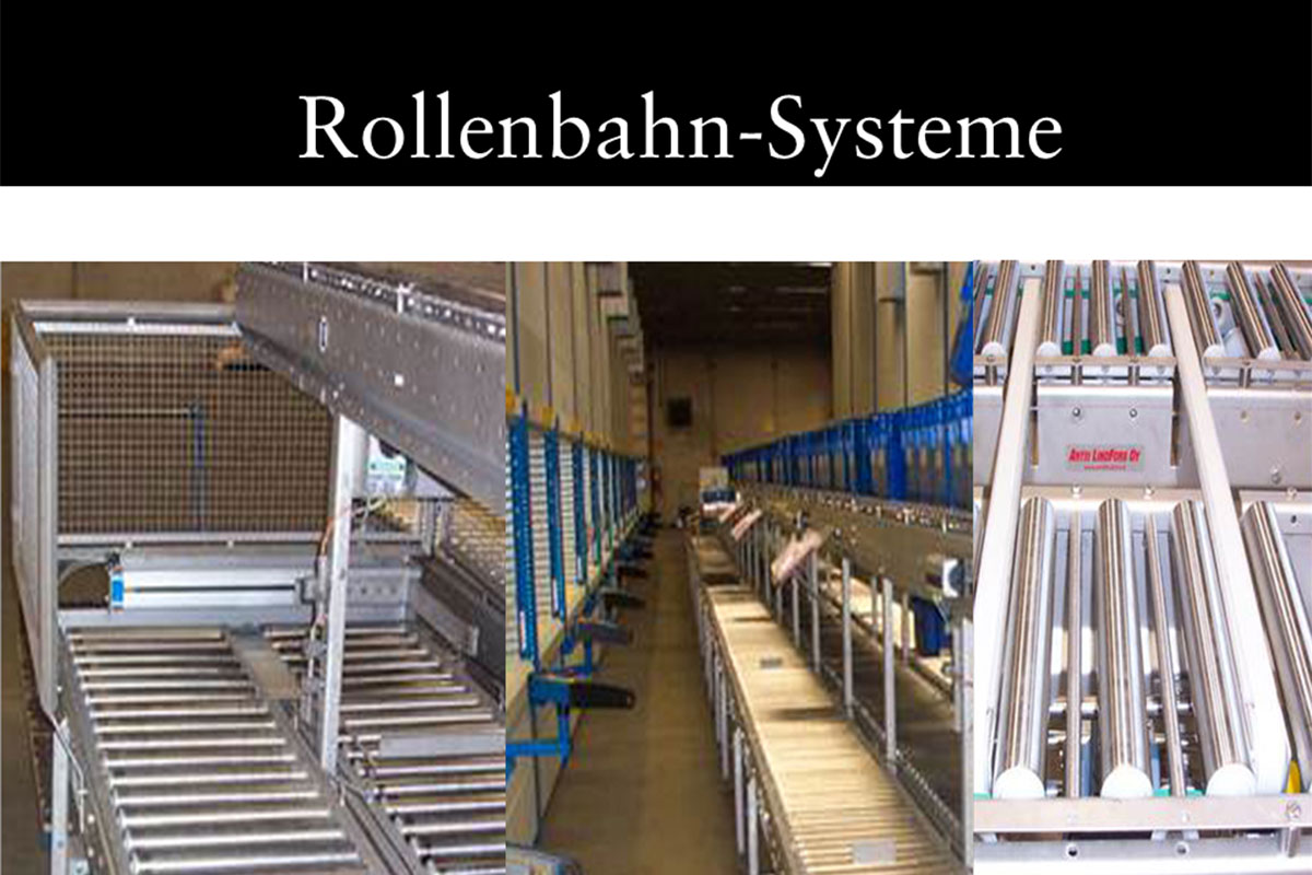 Materials handling technology Roller conveyor system