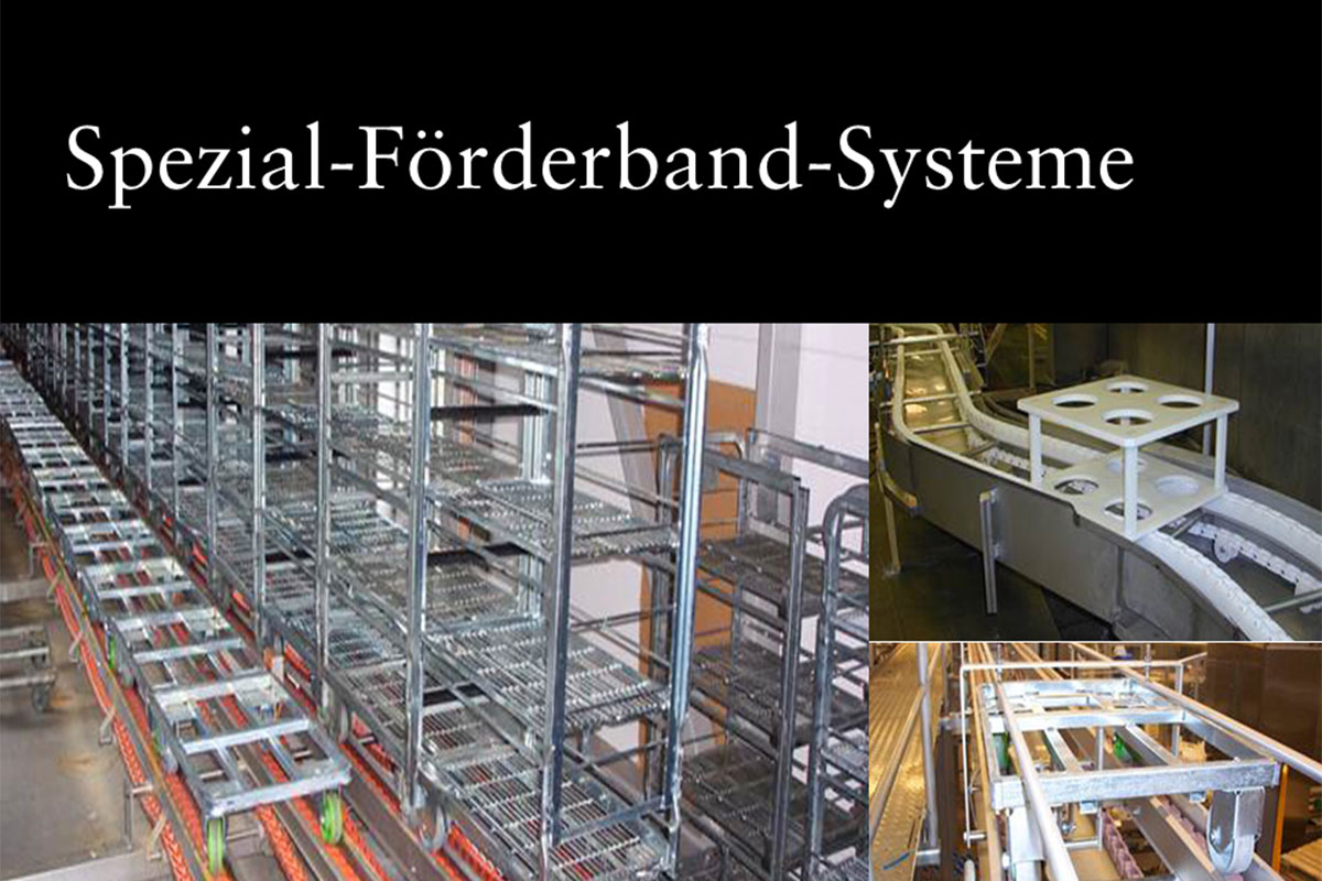 Materials handling technology Special conveyor belt system