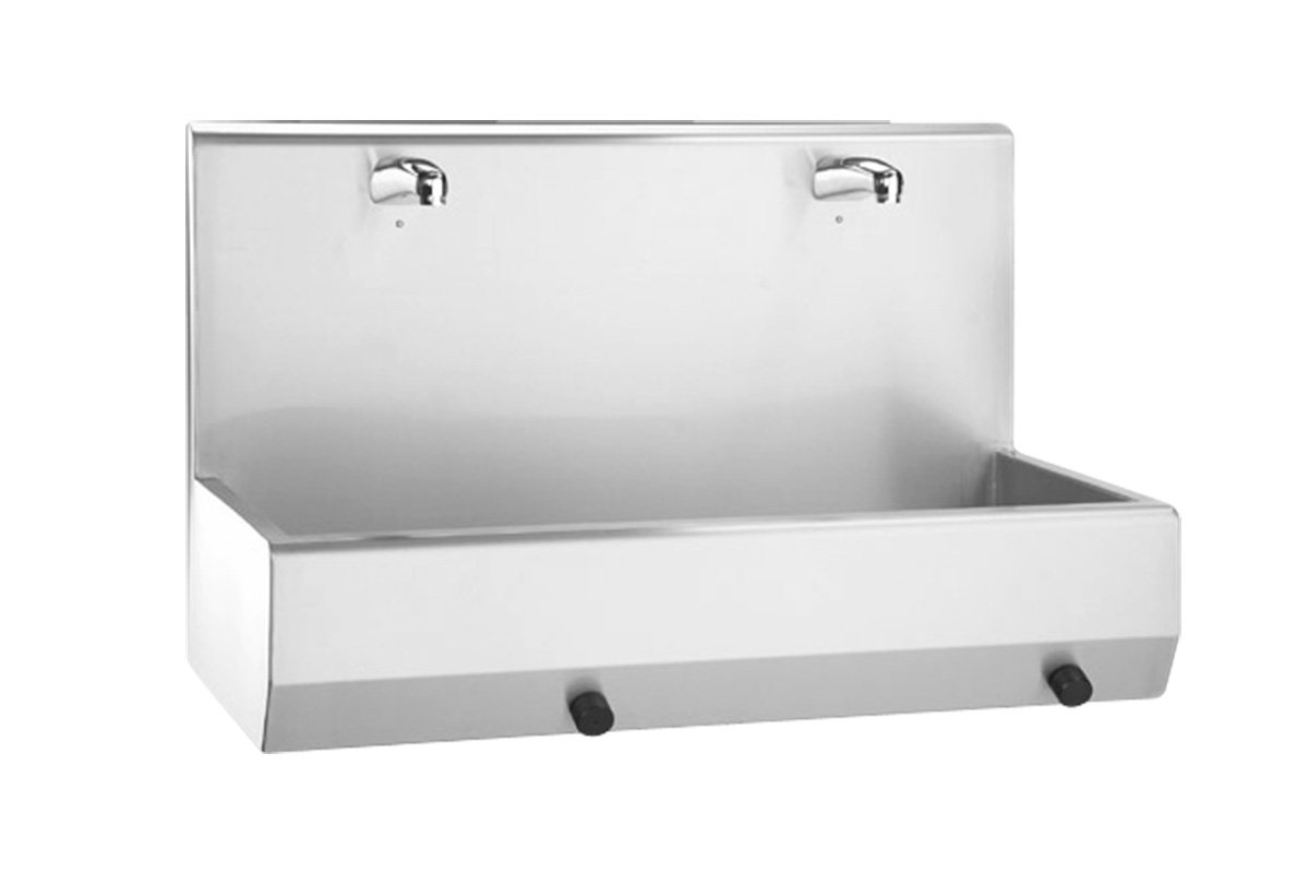 Hand wash trough Type 20520-2 W with knee switch activation