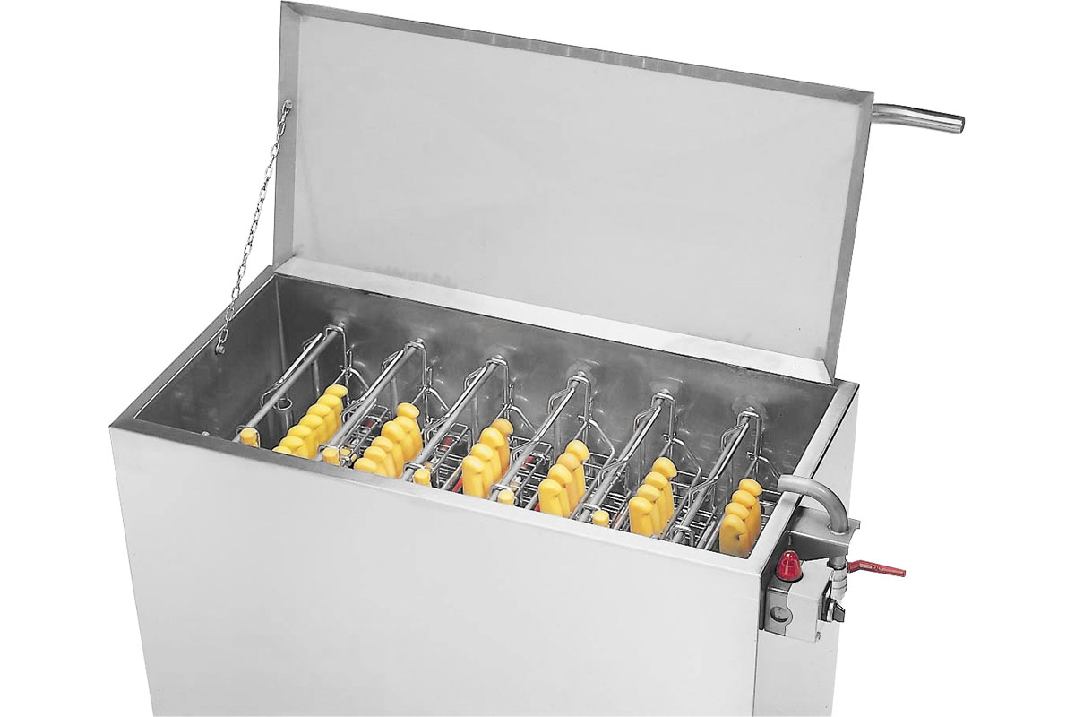 Knife holder cleaning system Sterilisation tank Type 2160-6S
