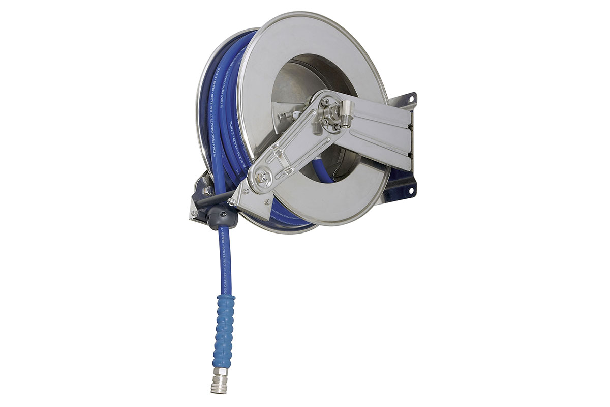 Hose reels and hoses AV 1000, retractable