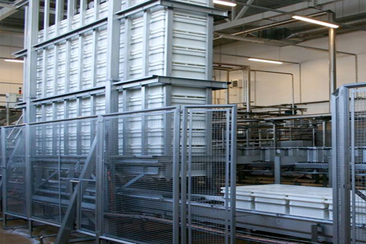 Semi-hard cheese production Ripening storage