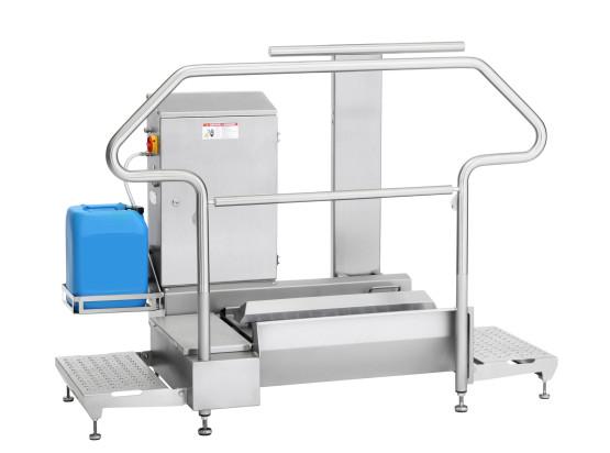 Hygienestation Typ 23876-800 mit zusätzlichem Geländer-retuschiert