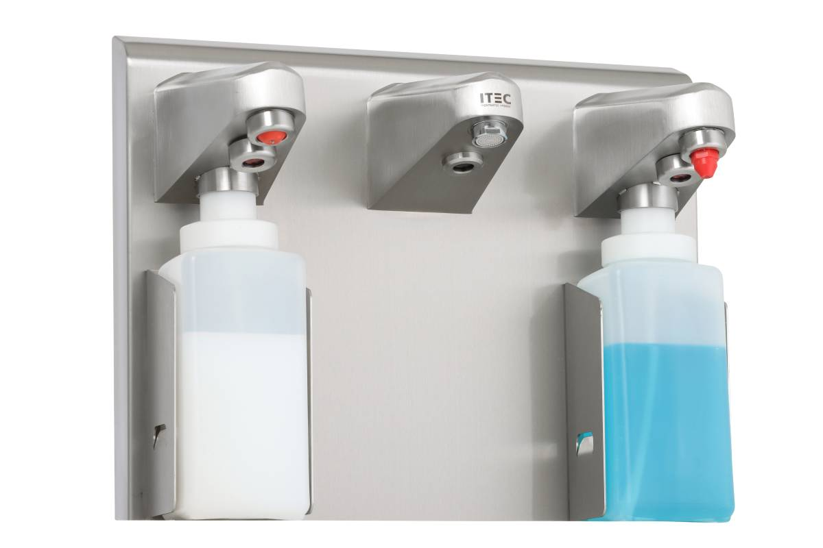 Hand wash sink Type 20550 touchless with 2 stainless steel dispenser